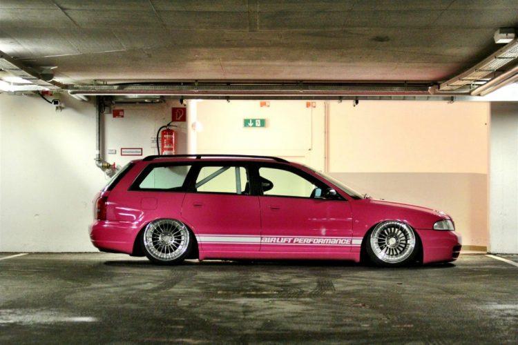 Audi S4 – tief, breit, pink Bild 2