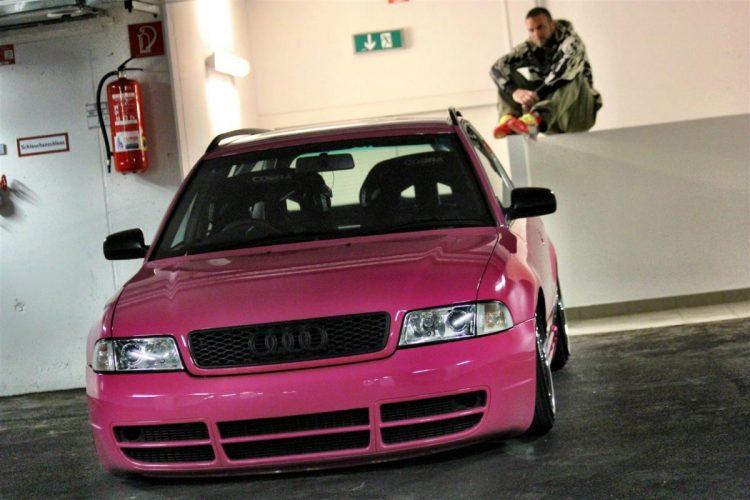 Audi S4 – tief, breit, pink Bild 5