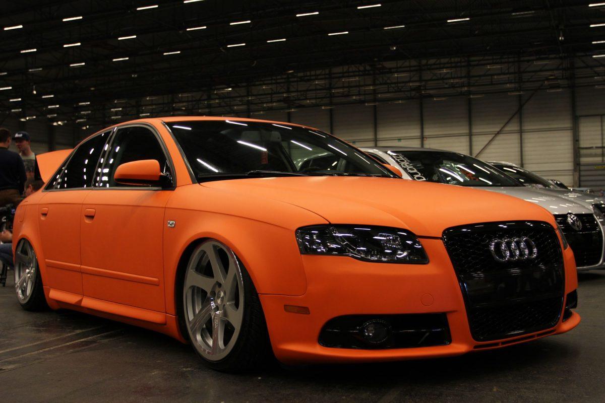 Audi A4 Mit Knalliger Folierung Autotuning De