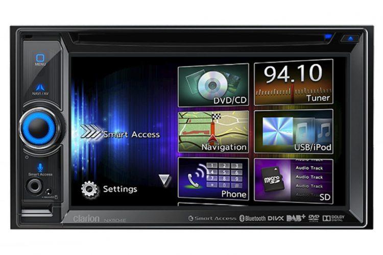 Das Clarion NX504E bietet viele multimediale Schnittstellen