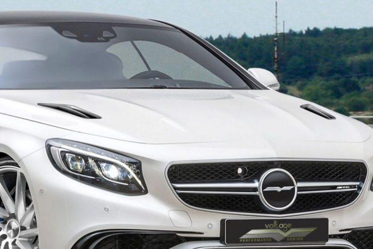 Marke Eigenbau: Voltage-Design verewigt sich im Grill des Mercedes S 63 AMG Coupé