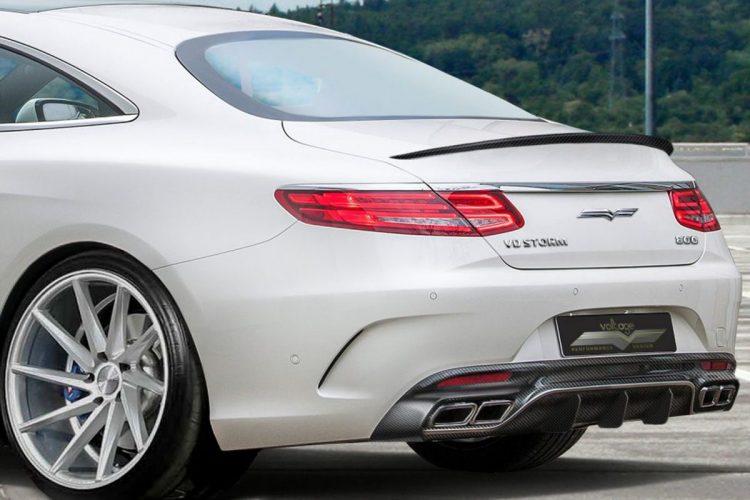 Scharfe Heckpartie: Das Mercedes S 63 AMG Coupé mit neuen Carbon-Teilen