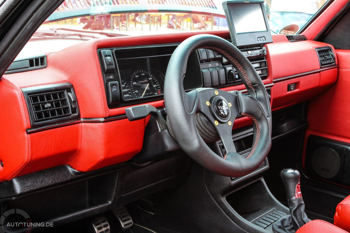 Vw golf mk2 gti vr6 dauerbrenner for Interieur tuning auto