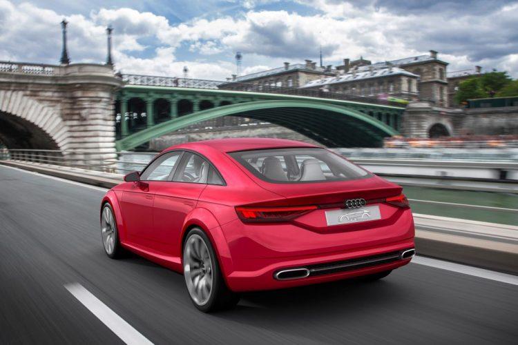 Sicher unterwegs: Breite Pneus und das ESC halten das Audi TT Sportback concept 8S in der Spur