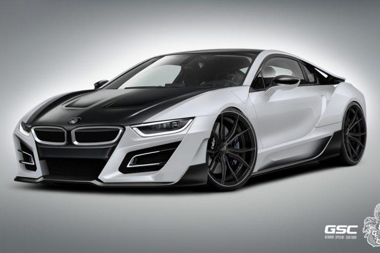 Zusätzliche Luftauslässe: Die Motorhaube des BMW i8 iTRON wurde von GSC leicht modifiziert