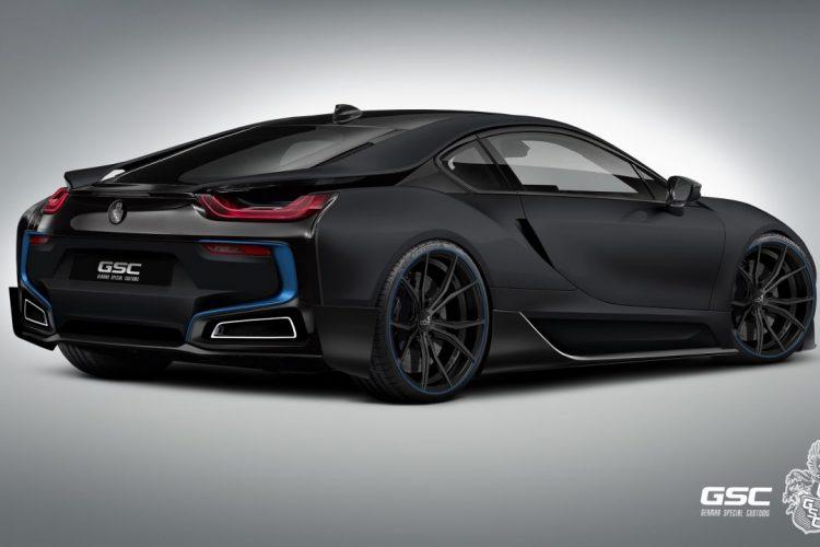 Knackiges Heck: Der BMW i8 iTRON hat nun Endrohrblenden im Angebot