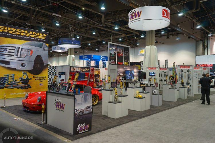 Reichhaltiges Angebot am SEMA Las Vegas 2014-Stand von KW automotive