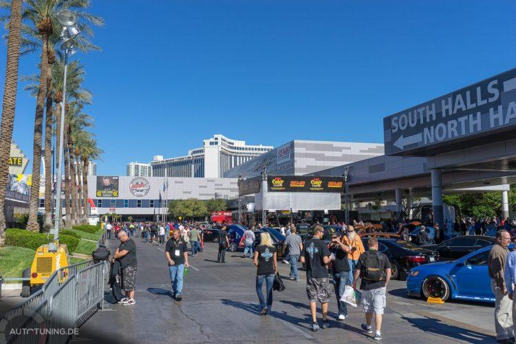 Gute Stimmung drinnen wie draußen: DIe SEMA Las Vegas 2014 rockt einfach