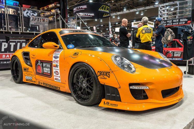 Auch Porsche-Modelle durften sich großer Beliebtheit auf der SEMA Las Vegas 2014 erfreuen