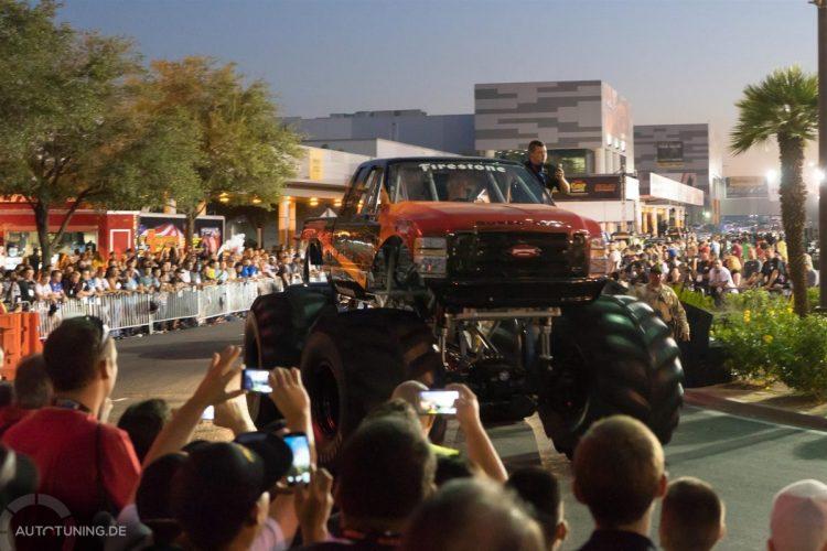 Monstertruck-Power ahoi: Auf dem SEMA Las Vegas Cruise 2014 waren etliche Boliden unterwegs