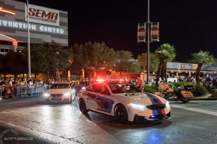 """Safety First - auch beim SEMA Las Vegas Cruise 2014 war die """"Polizei"""" anwesend"""