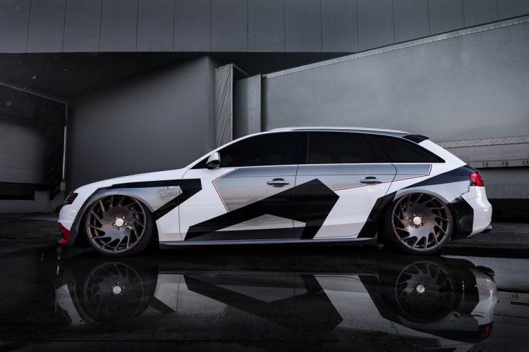Üppiges Räderwerk: Die Vossen VLE-1 am Audi A4