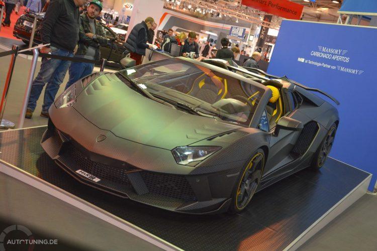 Ein Lamborghini Aventador von Mansory ist ebenfalls auf der Essen Motor Show 2014 zu finden