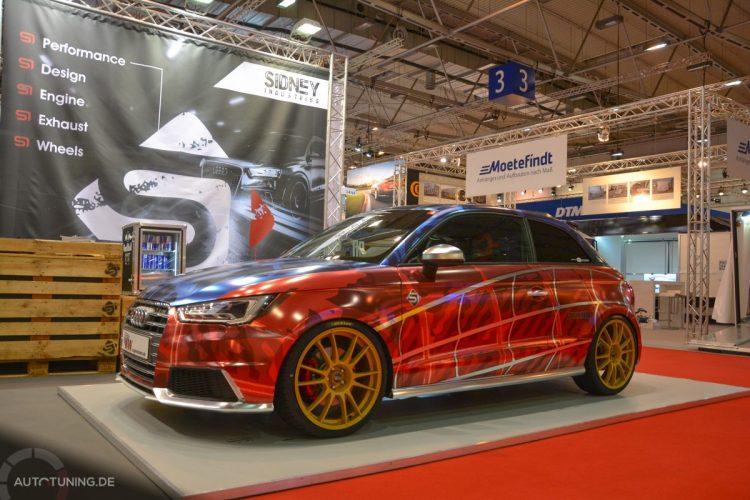 Der Audi S1 von Sidney Hoffmann am KW automotive-Stand auf der Essen Motor Show 2014