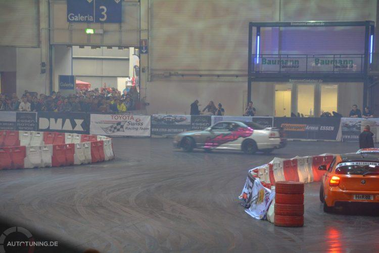Driftpower in der DMAX-Motorsportarena gibt's in Halle 7 der Essen Motor Show 2014
