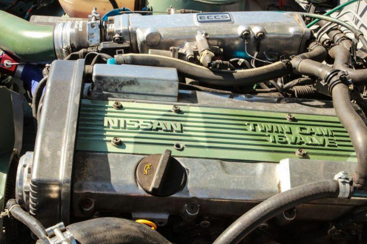 Motorraum des Nissan 200SX