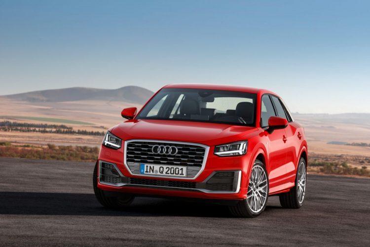 Der Singleframe-Grill wird beim Audi Q2 sogar zum Oktagon-Muster.