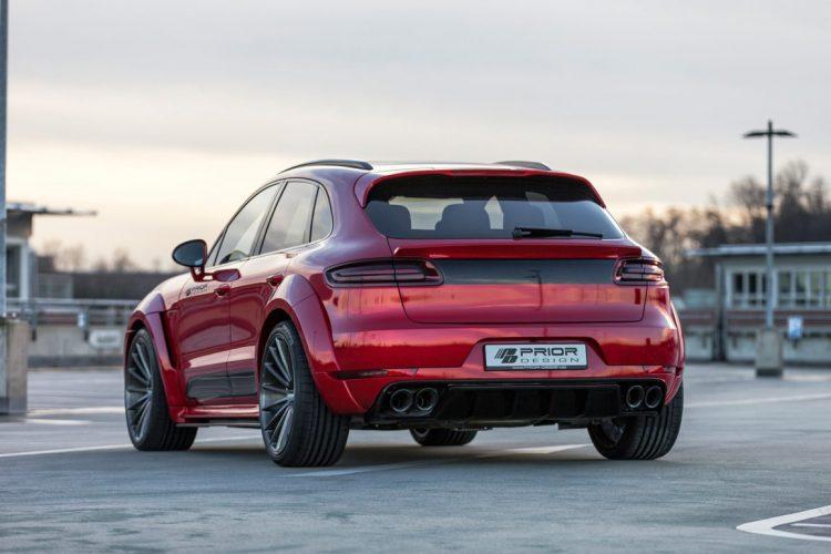 Prunkvoll umgesetzt: Der Porsche Macan Widebody von Prior-Design geht mächtig in die Breite.