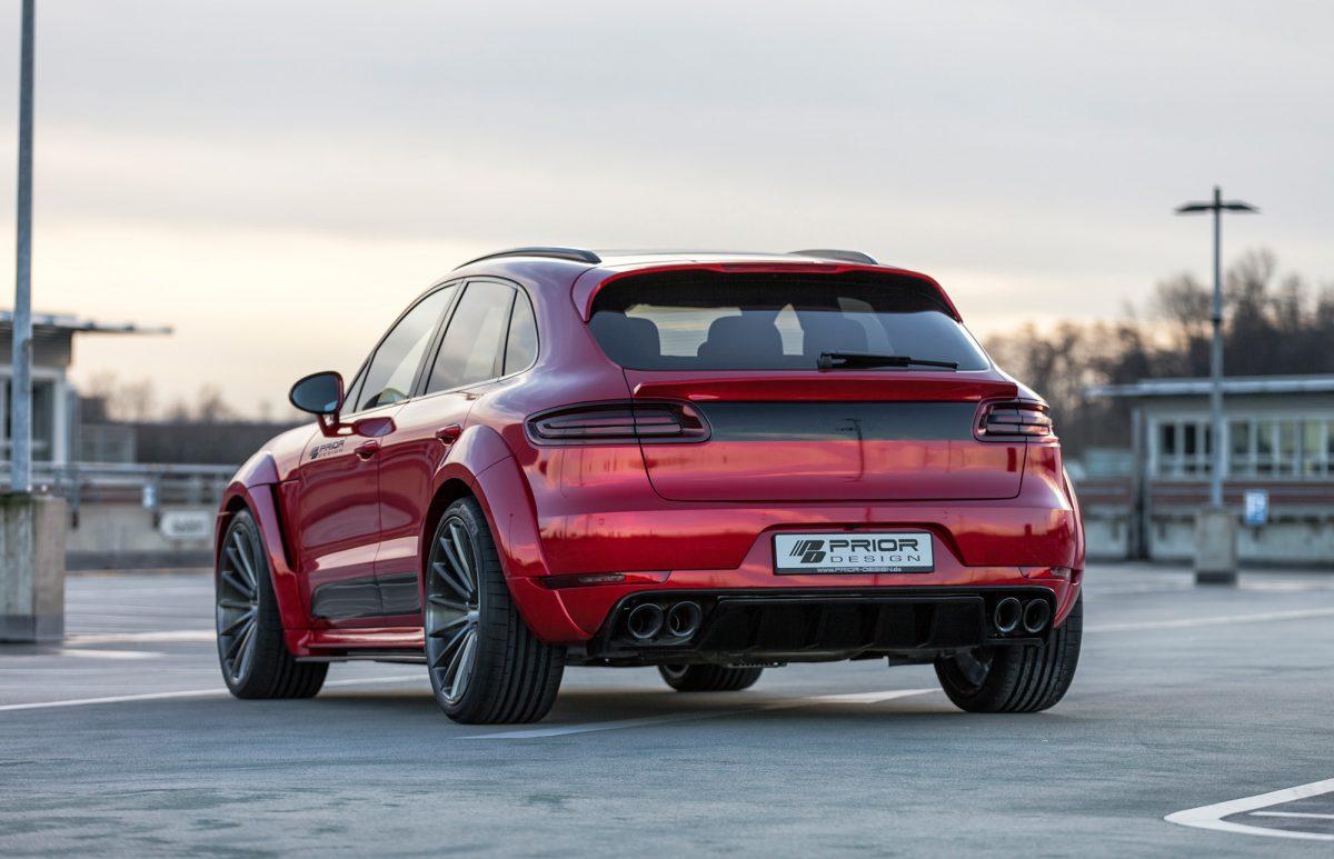 Porsche Macan Widebody Wuchtbrumme Von Prior Design
