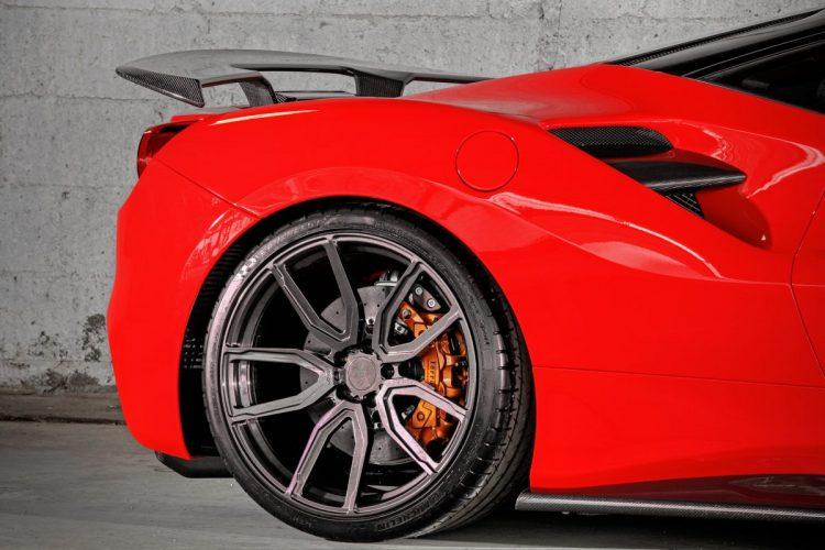 Mächtiger Heckantrieb: Der Ferrari 488 GTB entfaltet bereits in Serie 760 Nm Drehmoment für den Antritt.