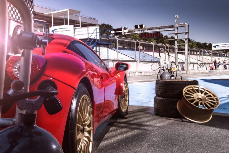 Bereit zum Abflug: Auf dem Track zeigt der Ferrari 458 von racing one, was wirklich in ihm steckt.