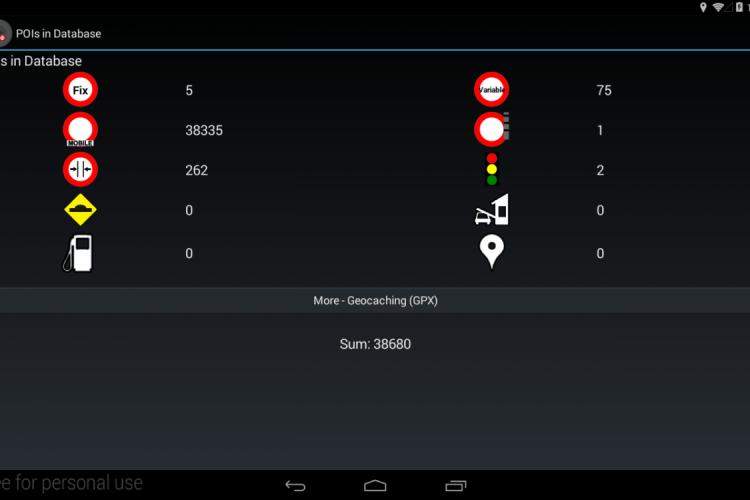Screenshot der Blitzer App von piPOIAlert