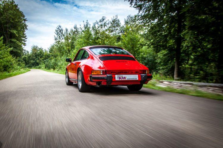 Heranwachsende Kotflügel für mehr Dampf: Bei den größeren Leistungsleveln wurde für das Porsche 911 G-Modell auch die Form angepasst.