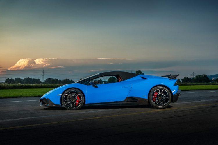 Seitenansicht des Lamborghini Huracán O.CT 800 Supercharged