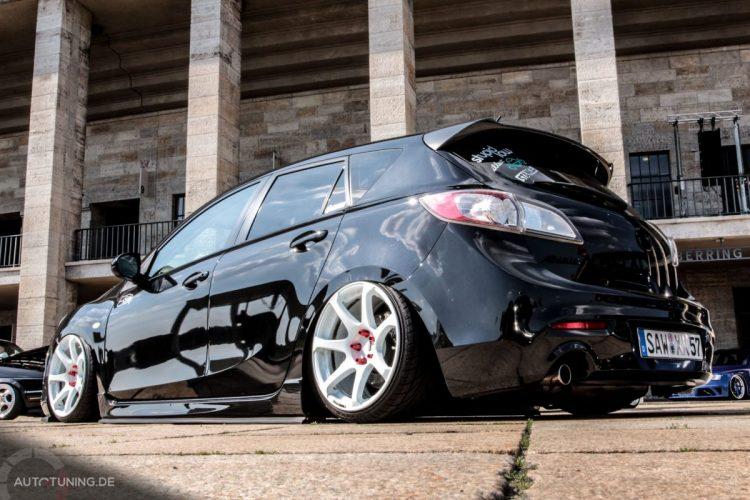 Heckansicht des Mazda 3
