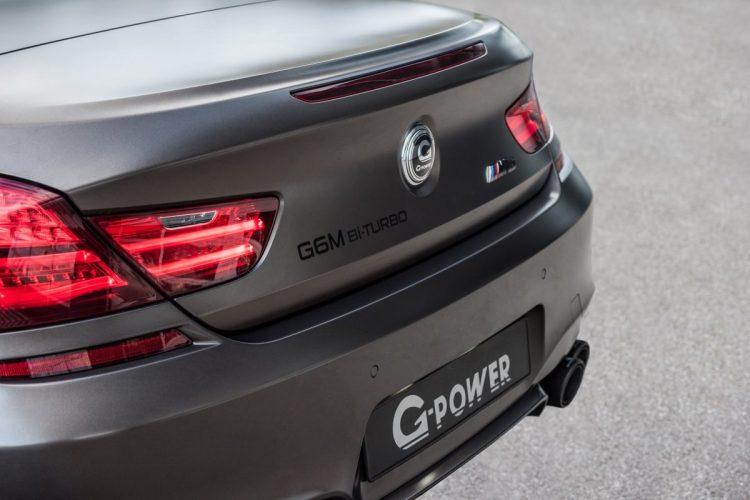 Heckansicht des BMW M6 Cabriolet von G-Power