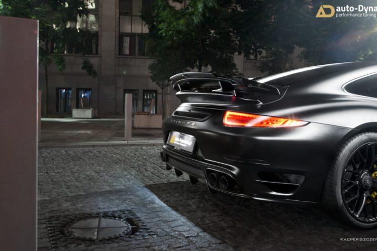 Detailansicht des Porsche 911 Turbo S Dark Knight von auto-Dynamics