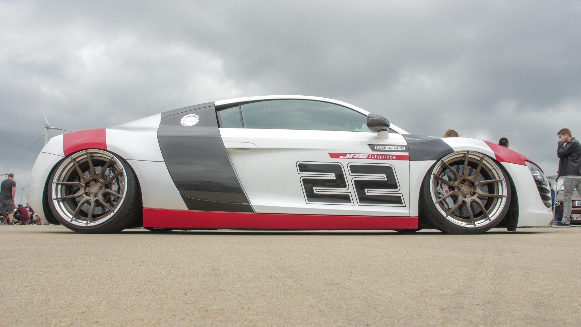 Seitenansicht des Audi R8