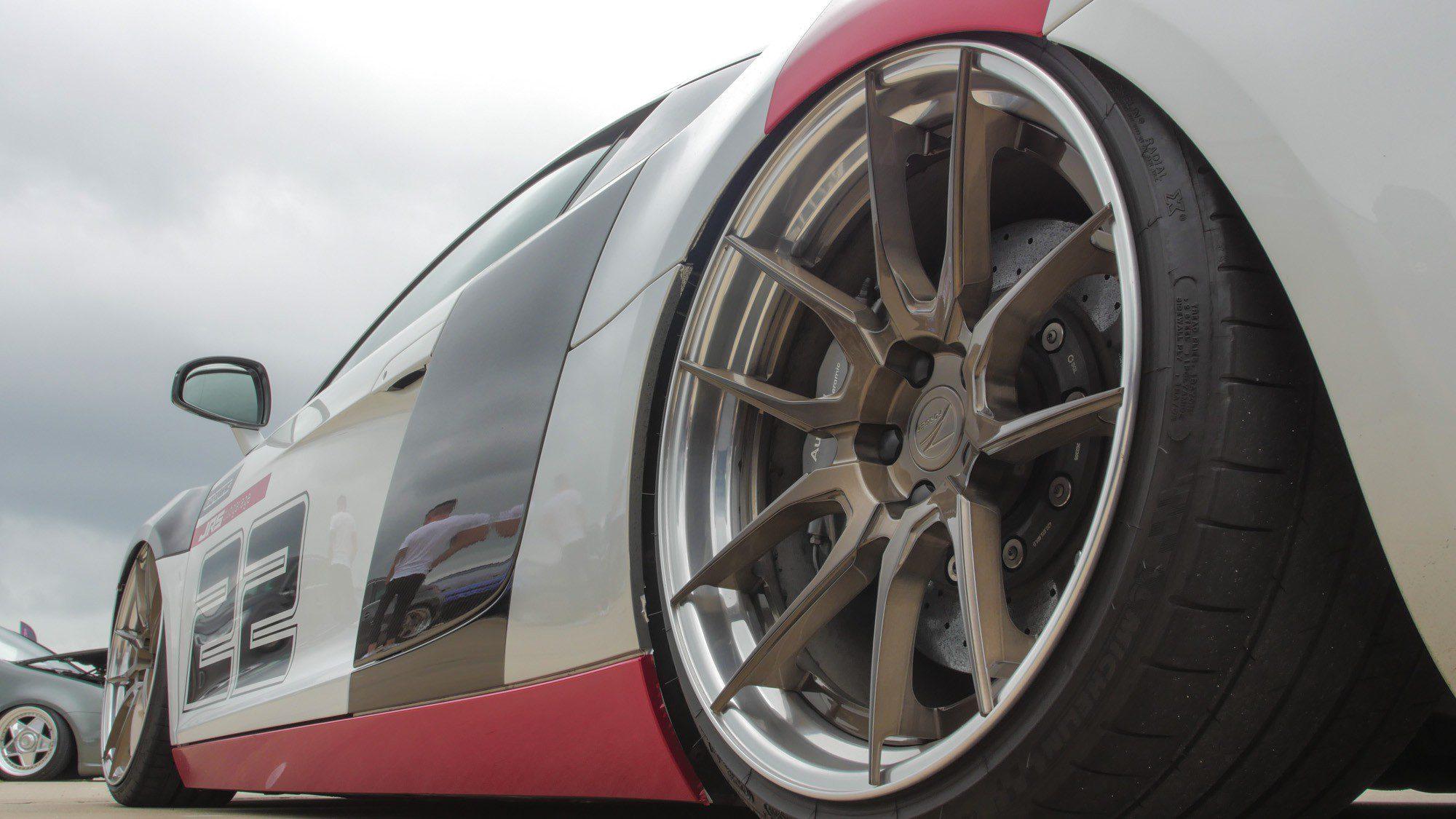 Der Audi R8 setzt voll auf Räder von Z-Performance