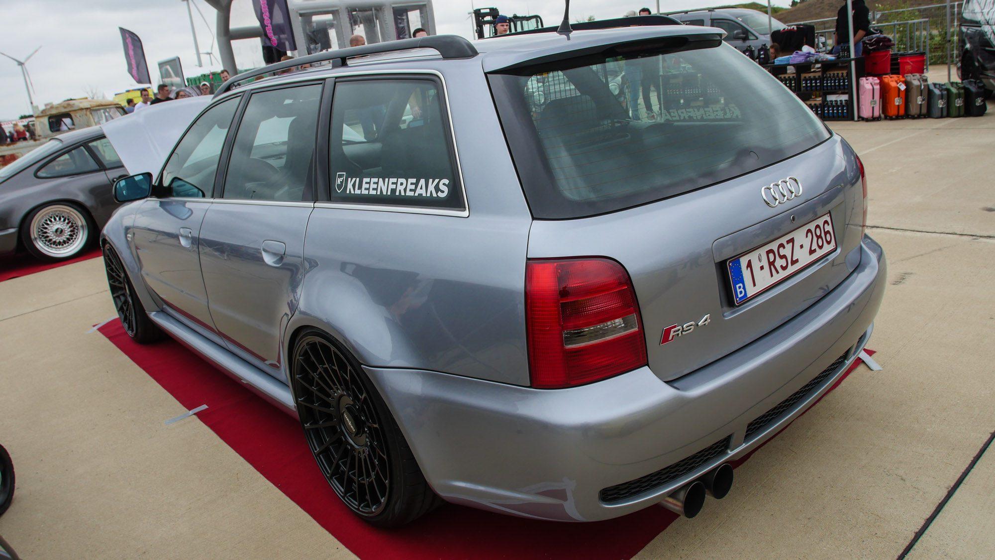 Heckansicht des Audi RS4