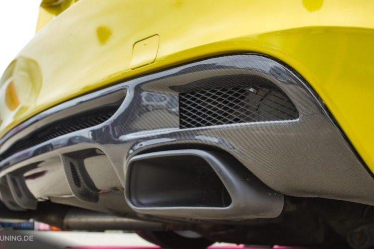 Diffusor aus Carbon am BMW 1er Coupé