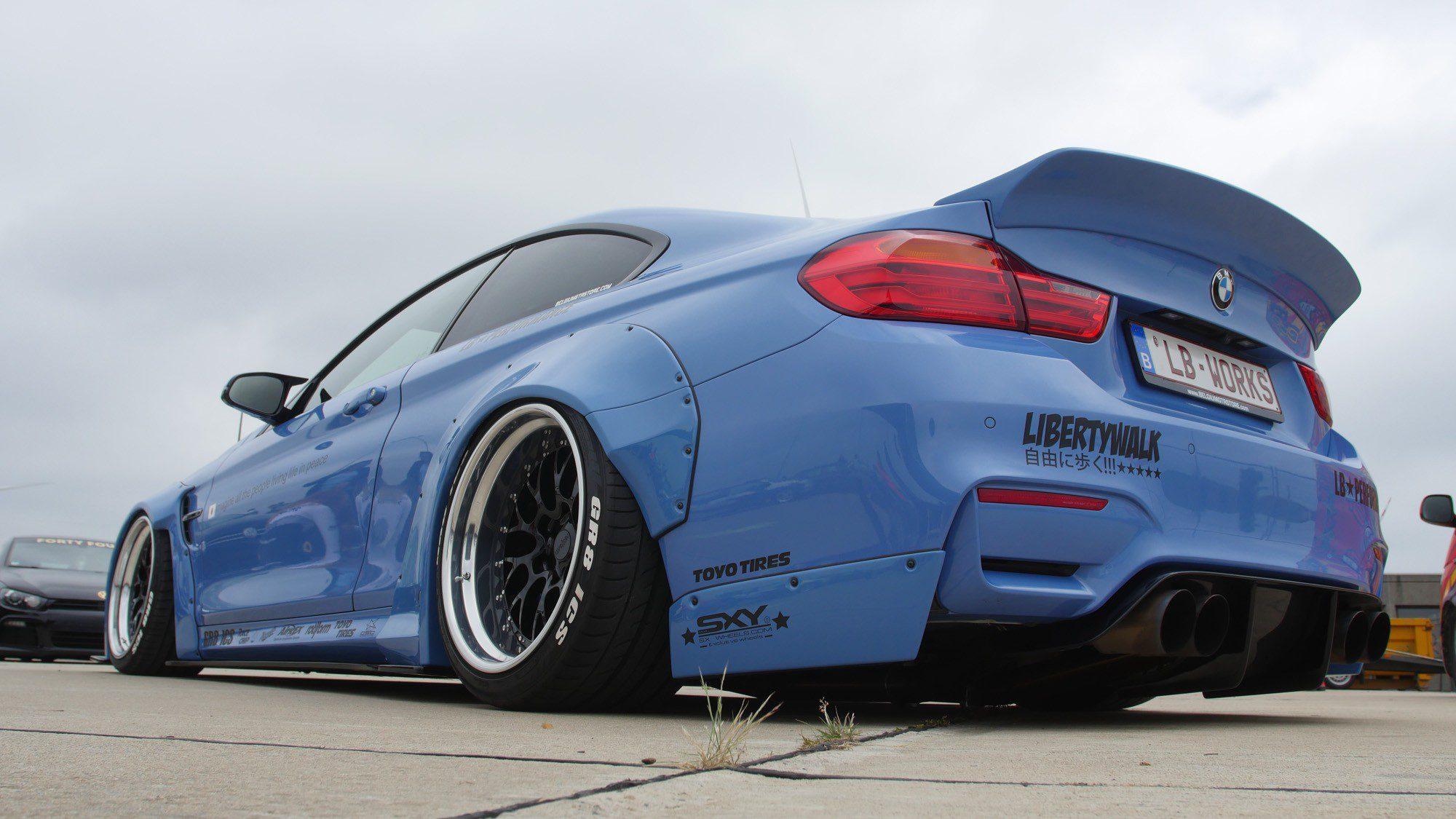 Heckansicht des BMW M4