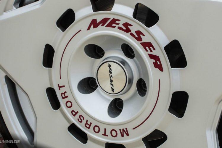 Detailansicht der Messer Wheels auf der Mercedes A-Klasse