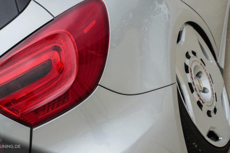 Detailansicht des Hecks der Mercedes A-Klasse