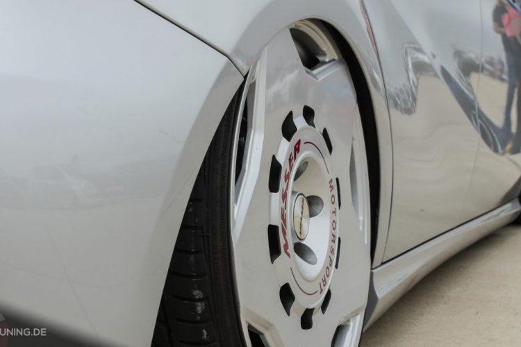 Die Messer Wheels fügen sich perfekt in das Gesamtbild der Mercedes A-Klasse ein!