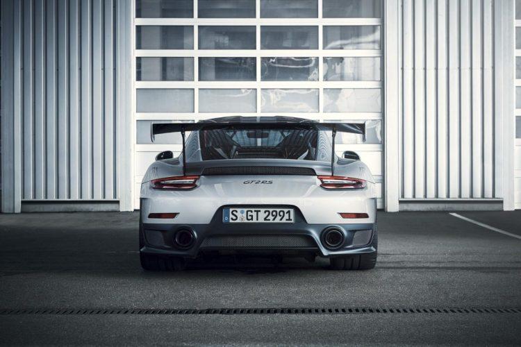 Heckansicht des Porsche 911 GT2 RS
