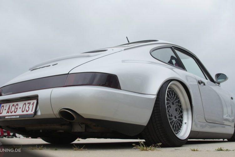 Heckansicht des Porsche 911