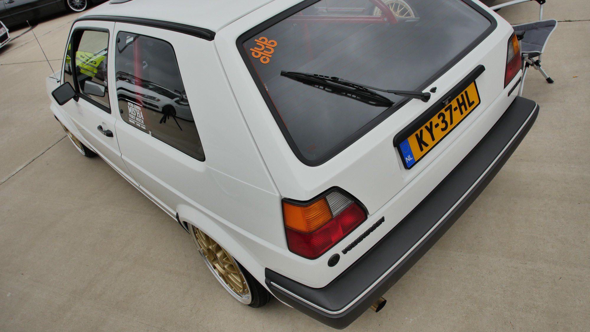 Heck des VW Golf II