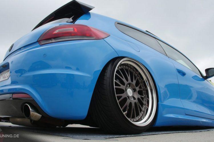 Heckansicht des VW Scirocco