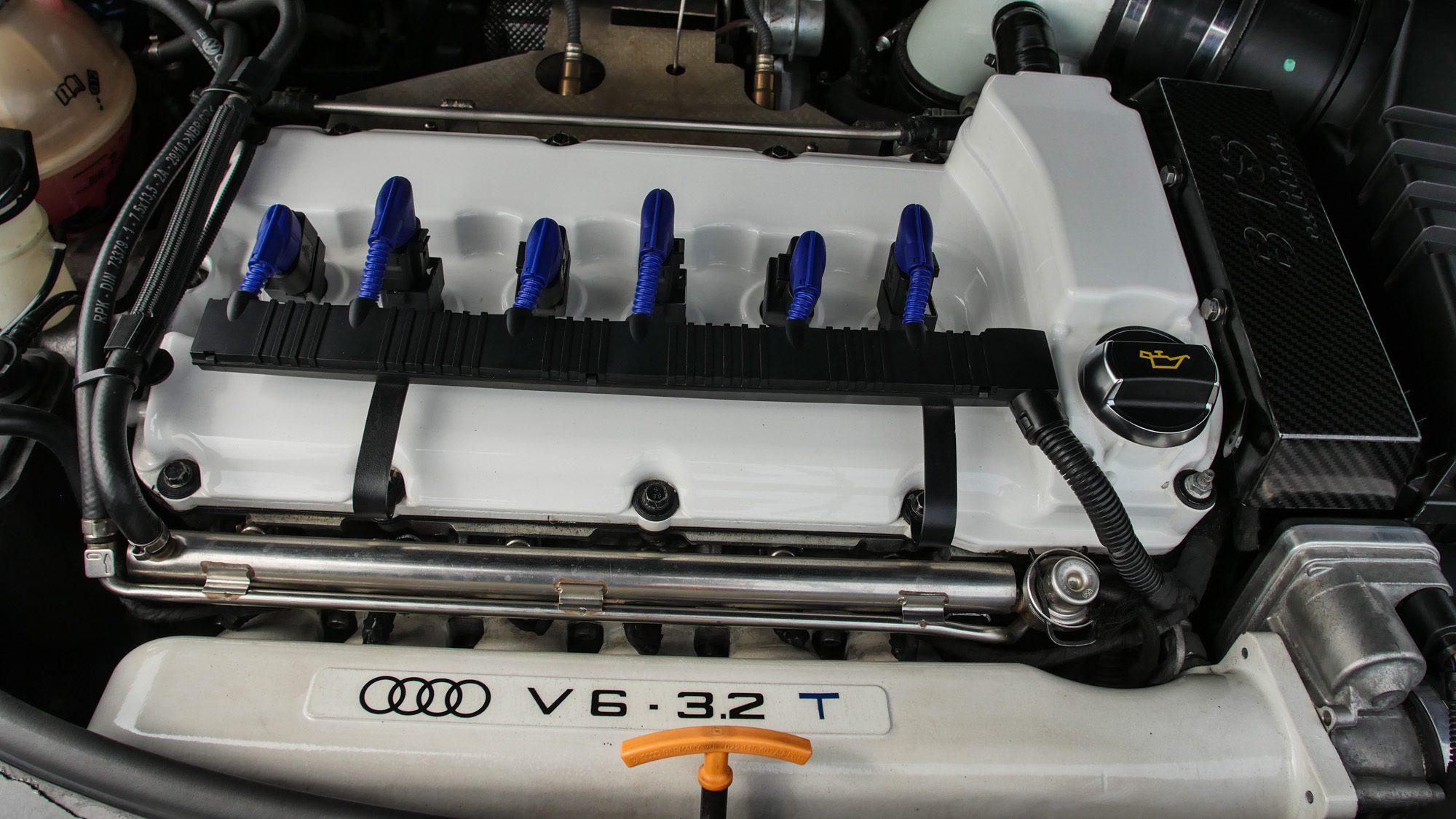 Sechszylinder-Motor des Audi A3 3,2 quattro