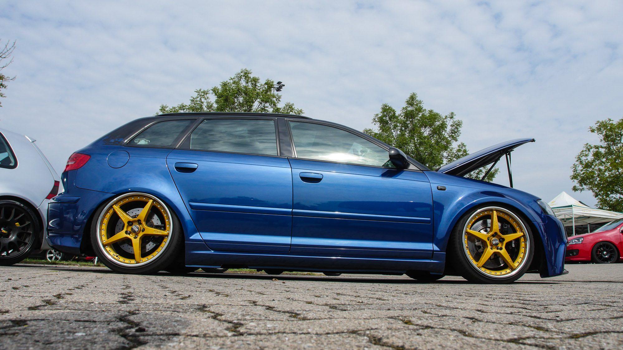 Blick auf den Audi A3 3,2 quattro in voller Länge!