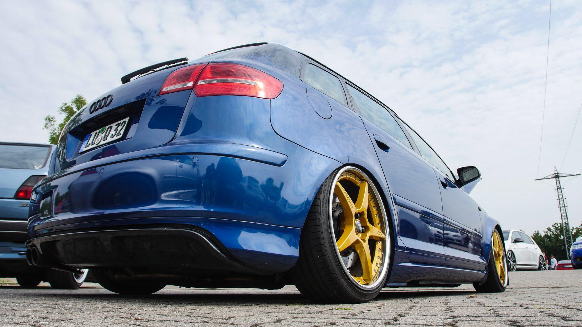Heckansicht des Audi A3 3,2 quattro