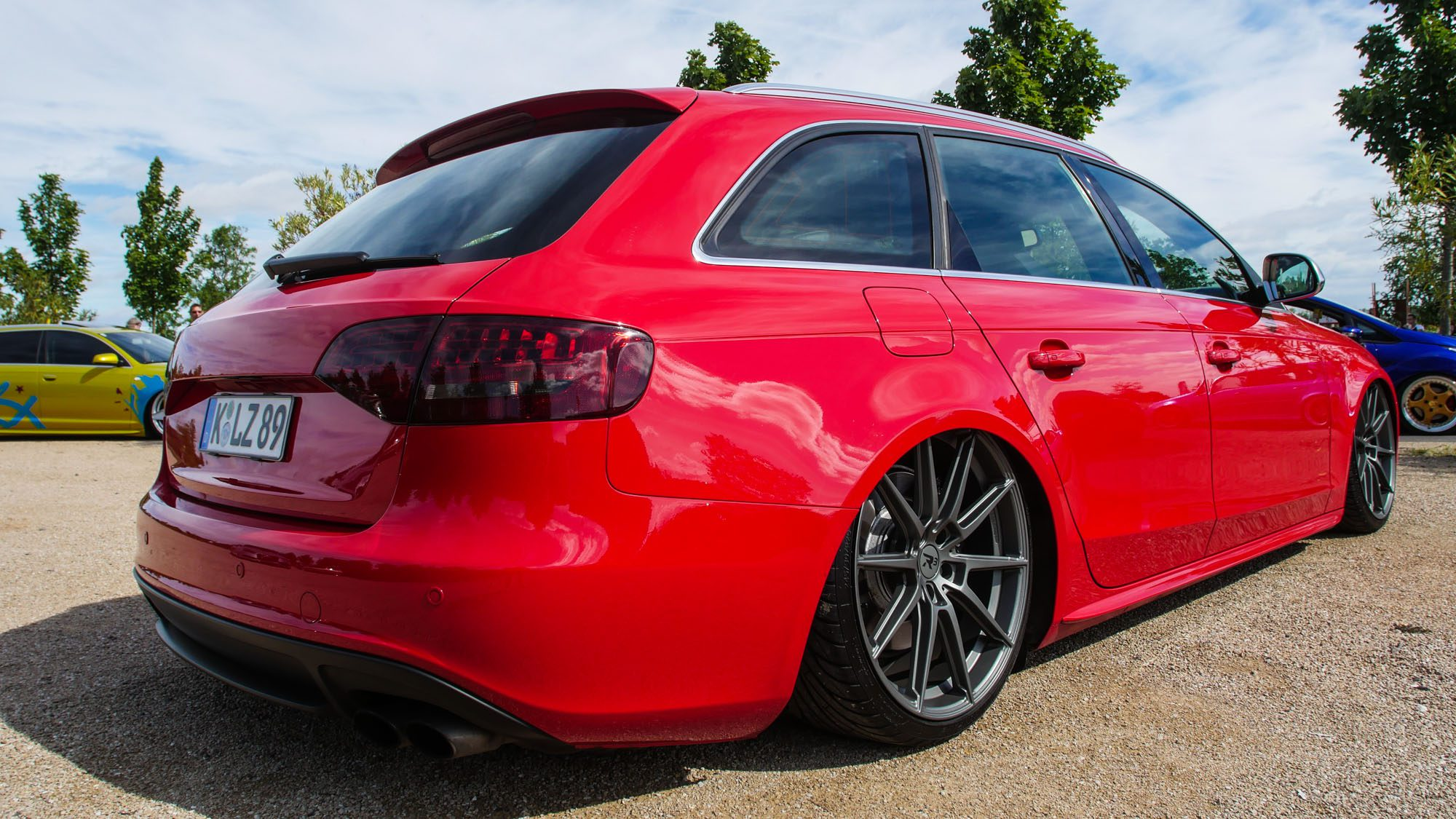 Heckansicht des Audi S4 Avant