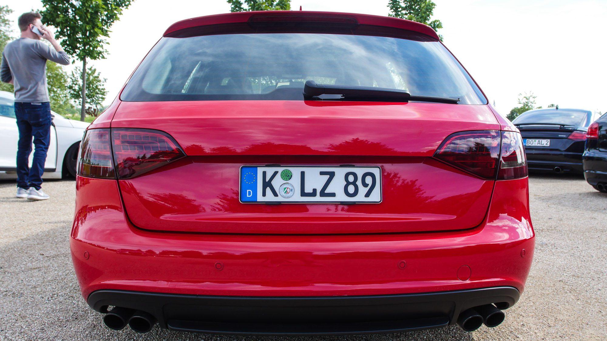 Heck des Audi S4 Avant