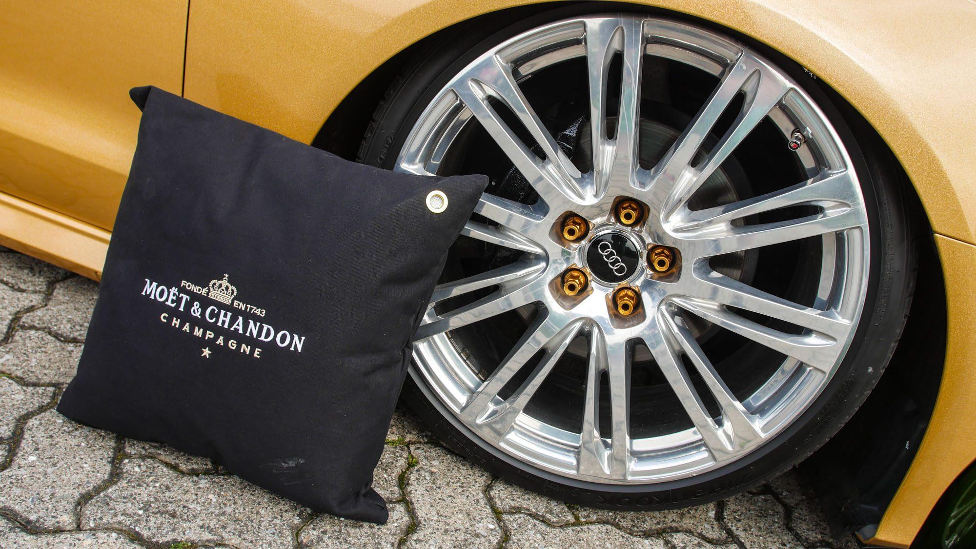 Die Räder des Audi A6 Avant können mit dem Glamour der Marke Moët & Chandon locker mithalten!
