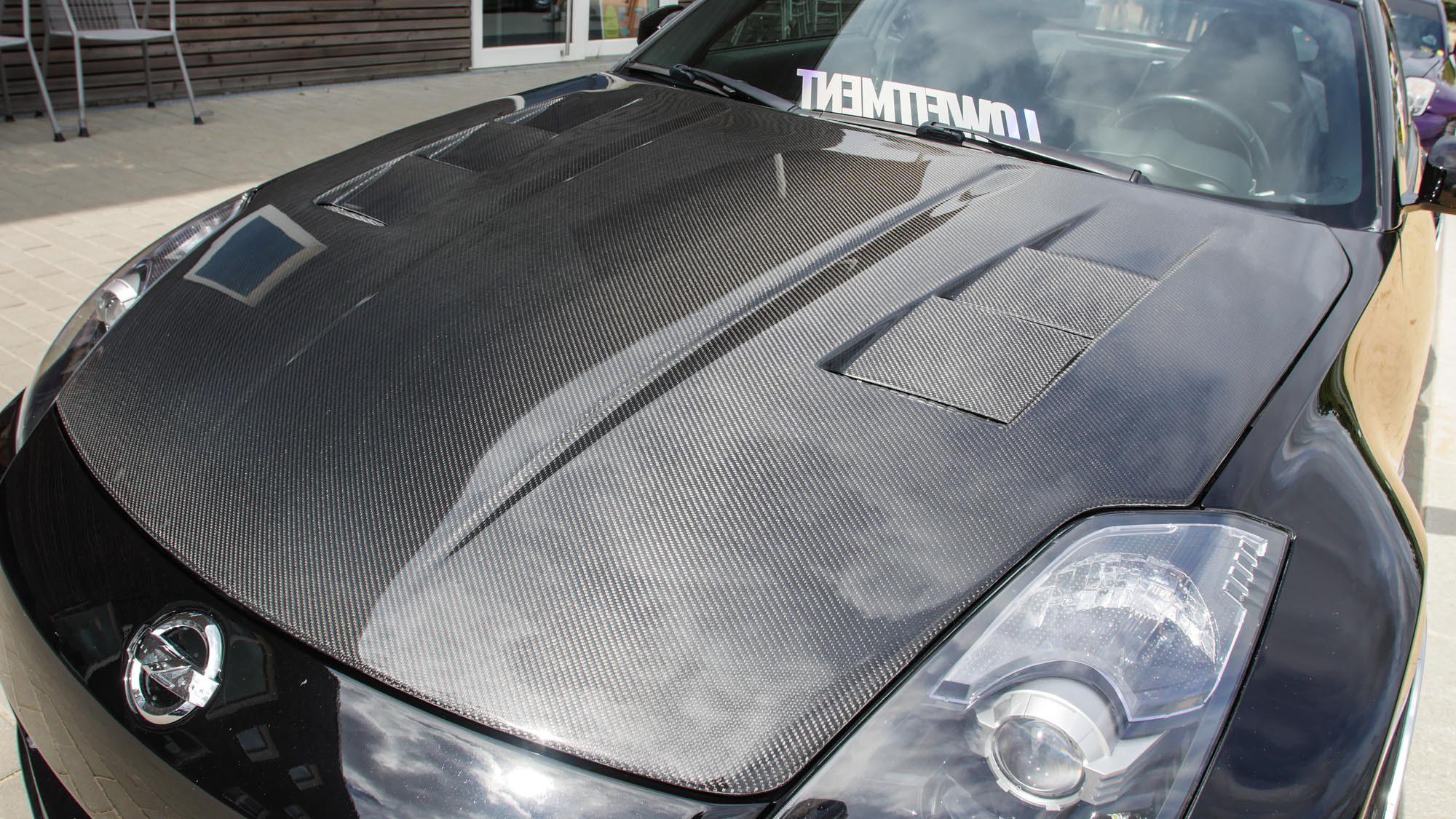 Motorhaube für den Kohlefaser-Kick am Nissan 350Z